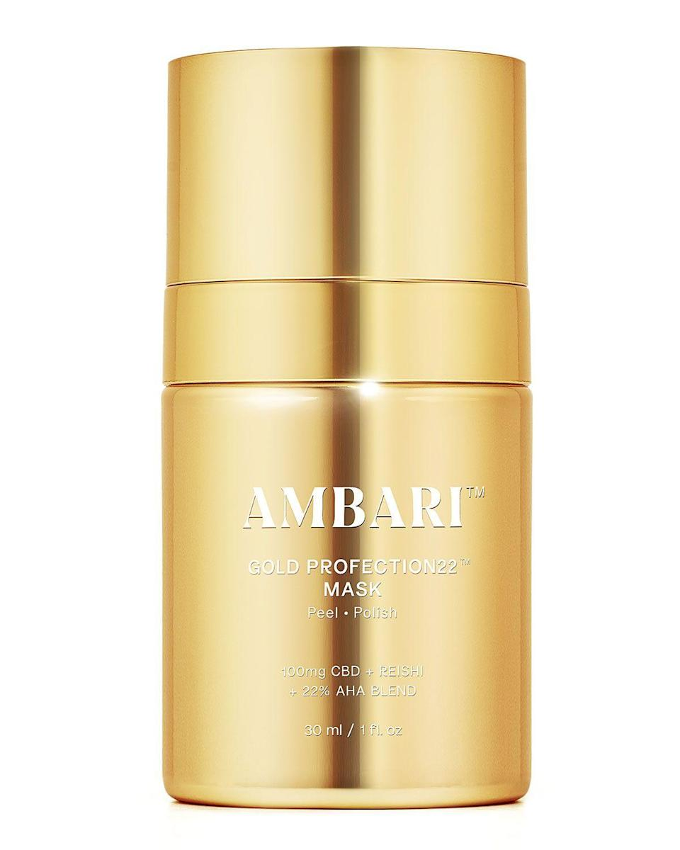 "<p><strong>Ambari Beauty</strong></p><p>https://www.neimanmarcus.com</p><p><strong>$92.00</strong></p><p><a href=""https://go.redirectingat.com?id=74968X1596630&url=https%3A%2F%2Fwww.neimanmarcus.com%2Fp%2Fambari-beauty-1-oz-gold-profection22-mask-prod241310297&sref=https%3A%2F%2Fwww.marieclaire.com%2Fbeauty%2Fg35927175%2Fface-masks-for-acne%2F"" rel=""nofollow noopener"" target=""_blank"" data-ylk=""slk:SHOP IT"" class=""link rapid-noclick-resp"">SHOP IT</a></p><p>Dark spots and scarring are often leftovers from breakouts, especially as we age, and this AHA blend improves skin texture for an instant glow. But don't worry about overdoing it: anti-inflammatory CBD and reishi calm skin as the mask does its thing. </p>"