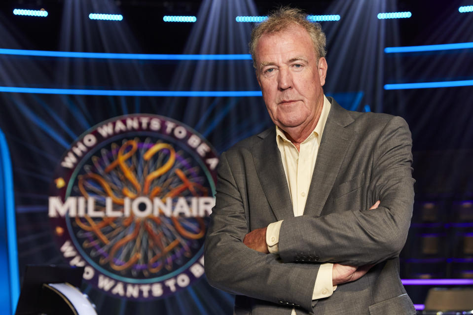 Jeremy Clarkson hosts Who Wants To Be A Millionaire?. (ITV/Stellify Media)