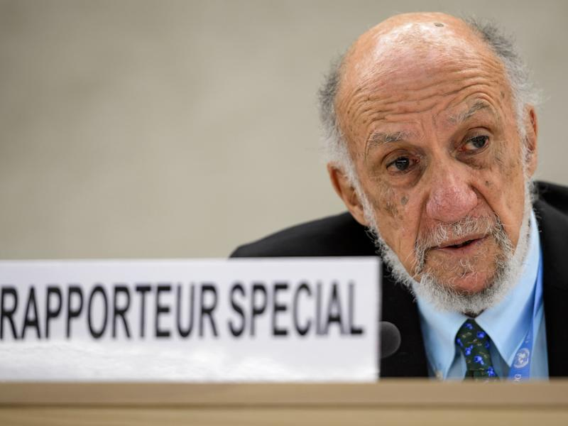 Former UN special rapporteur on the human rights situation in the Palestinian territories Richard Falk: FABRICE COFFRINI/AFP/Getty Images