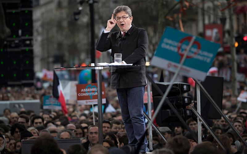 Jean-Luc Melenchon, French presidential candidate for the far-left political party 'La France Insoumise' (UnbowedFrance) - Credit: IAN LANGSDON/EPA