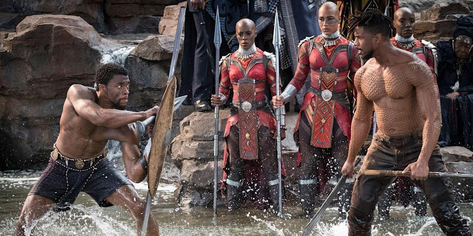 <p>Wakanda forever! You and your friends will turn heads in these <em>Black Panther</em> costumes, including Black Panther, Okoye, Shuri, and Erik Killmonger.</p>