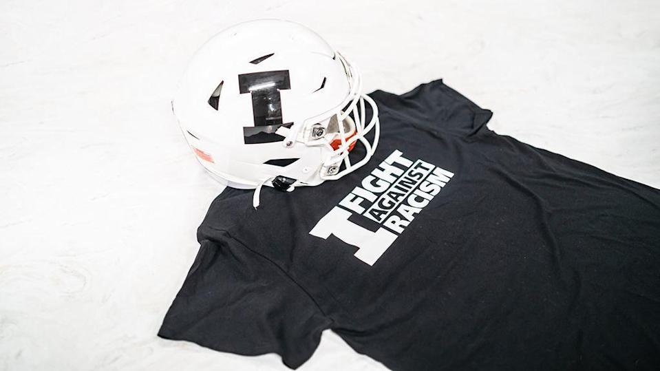 The helmet that will be worn by University of Illinois players. / Credit: University of Illinois