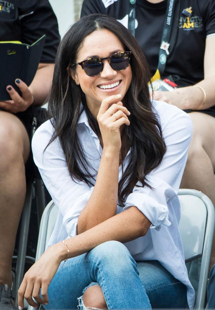 "<p>Meghan wears Finlay London ""Percy"" tortoise sunglasses at the 2017 Invictus Games in Toronto. (Photo by Danny Lawson/PA Images via Getty Images) </p>"