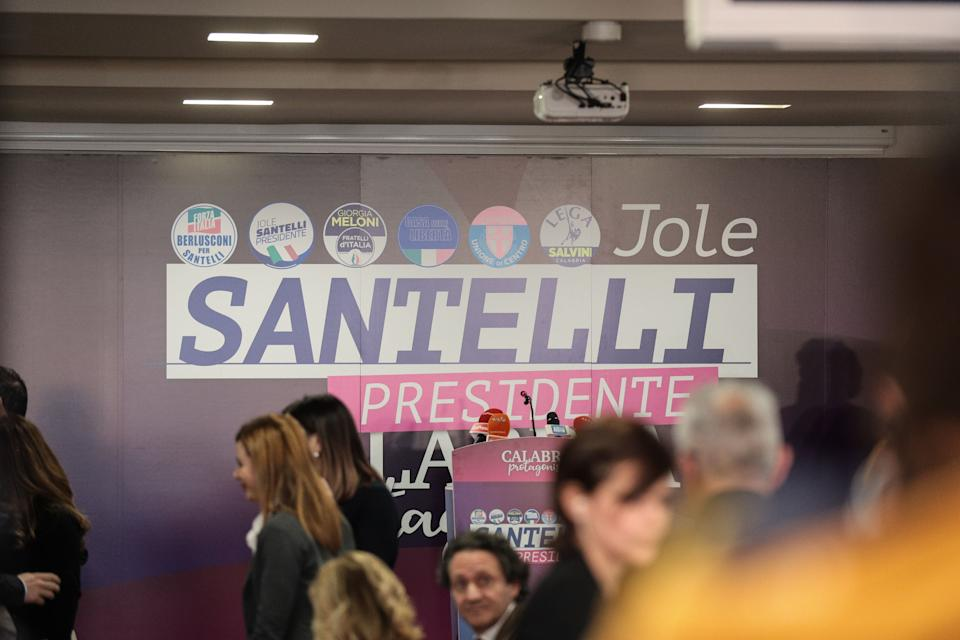 General view of the press room of Jole Santelli  in Lamezia Terme (CZ), Italy, on 26 January 2020. Jole Santelli becomes new President of the Calabria Region, at the end of the regional elections. For the first time the Calabria Region has a female president. (Photo by Andrea Pirri/NurPhoto via Getty Images) (Photo: NurPhoto via Getty Images)