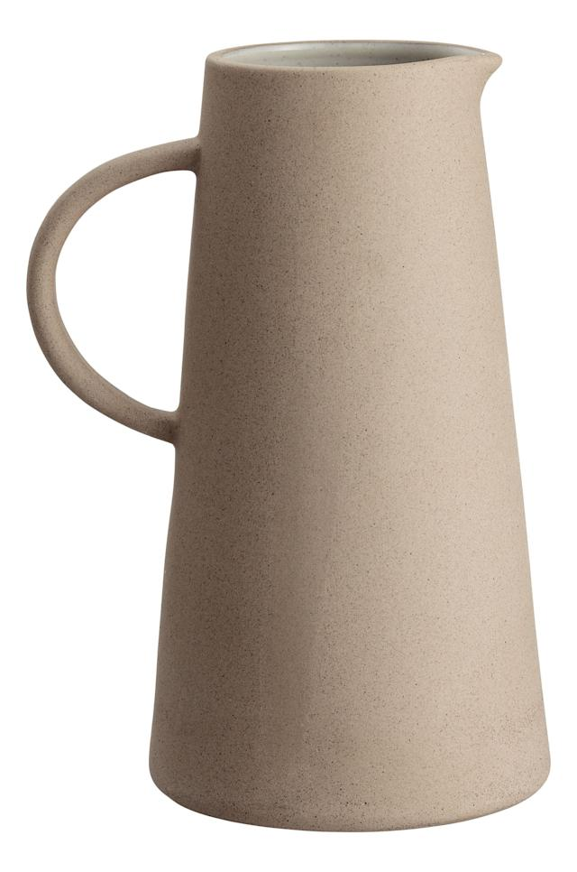 Buy the <span>stoneware pitcher here</span> for $24.99