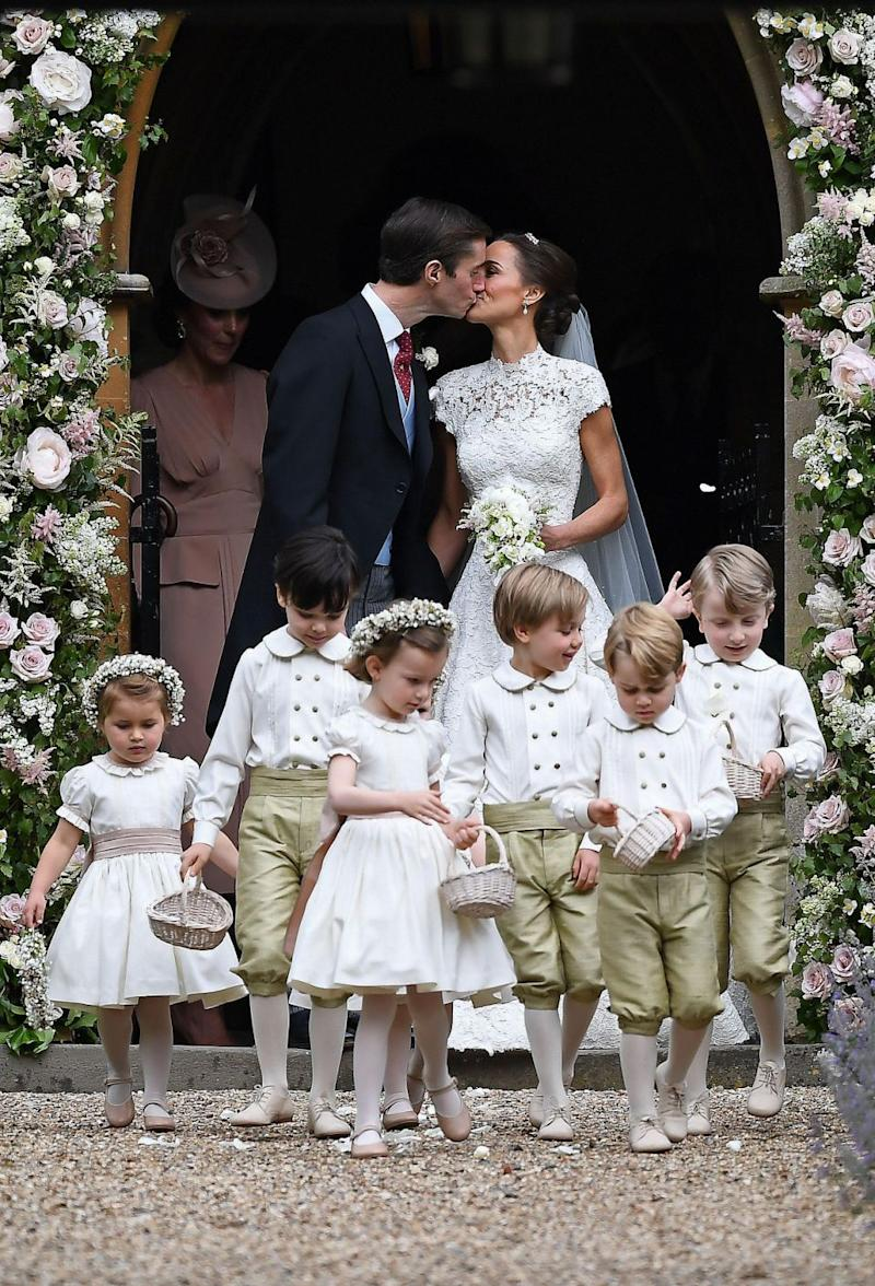 The young royals stole the show at Pippa Middleton's wedding back in May. Photo: Getty Images
