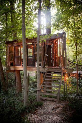 """<p><strong>One night in this treehouse, $375, <a rel=""""nofollow"""" href=""""https://www.airbnb.com/rooms/1415908?location=United%20States&s=ElvKgQM_"""">airbnb.com</a></strong><strong>.</strong></p><p>If you've always dreamed of having a treehouse in your backyard, but have never had the time, money, or even a backyard to build one in, here's a quick way to skip all the hard steps.</p>"""