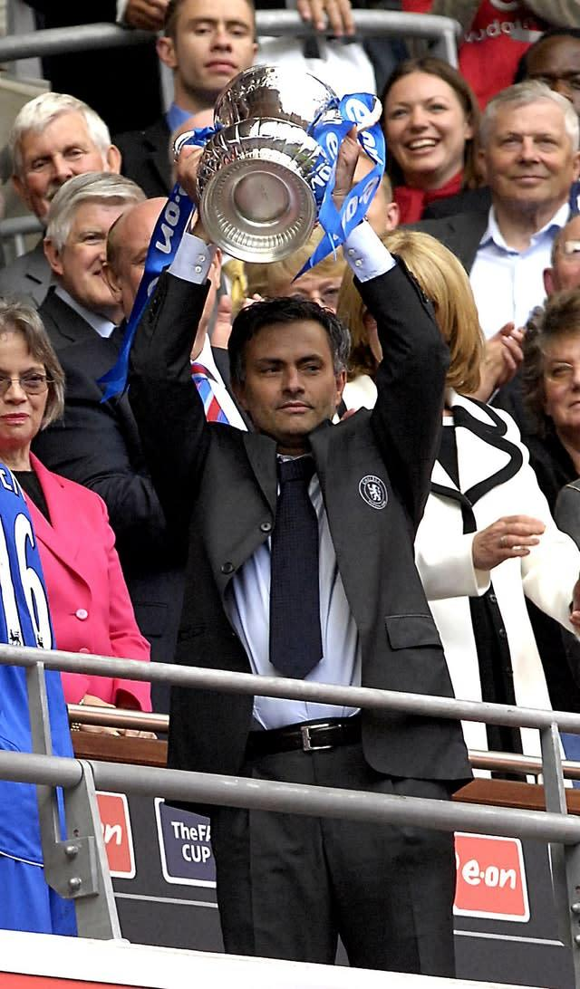 Jose Mourinho won the FA Cup with Chelsea (Rebecca Naden/PA)