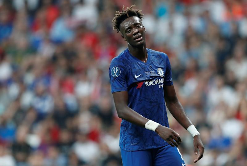 Soccer Football - UEFA Super Cup - Liverpool v Chelsea - Vodafone Arena, Istanbul, Turkey - August 14, 2019 Chelsea's Tammy Abraham reacts REUTERS/Murad Sezer