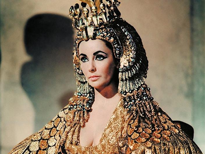 """Elizabeth Taylor played """"Cleopatra"""" in the 1963 film."""
