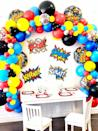 """<p><strong>BlushBalloonParty</strong></p><p>etsy.com</p><p><a href=""""https://go.redirectingat.com?id=74968X1596630&url=https%3A%2F%2Fwww.etsy.com%2Flisting%2F976124966%2Fsuper-hero-balloon-garland-kit-super&sref=https%3A%2F%2Fwww.womansday.com%2Flife%2Fg32946619%2Fboy-birthday-party-ideas%2F"""" rel=""""nofollow noopener"""" target=""""_blank"""" data-ylk=""""slk:Shop Now"""" class=""""link rapid-noclick-resp"""">Shop Now</a></p><p>Provide plain capes they can paint and color, various masks, and have them pull a special power out of a bowl to unleash the superhero that lives inside them. Then watch their imagination go as they run around solving crimes and doing good.</p>"""