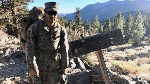 PHOTO: Pfc. Christian Bautista stands at a trail summit while participating in a unit hike at the Mountain Warfare Training Center in Bridgeport, Calif in this undated file photo. (Courtesy Lance Corporal Jose Cuatlacuatl)