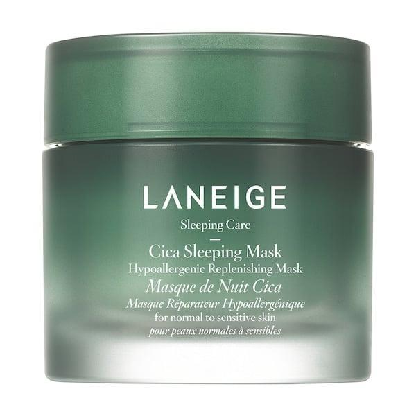 <p>Normally while you're happily fast asleep your skin is being weakened as it loses moisture and oil overnight . . . but that's where this <span>Laneige Hypoallergenic Cica Sleeping Mask</span> ($34) comes in. It's intensely hydrating thanks to the brand's fermented forest yeast extract which is does a better job at strengthening skin's barrier and soothing redness than many other traditional cica products.</p>