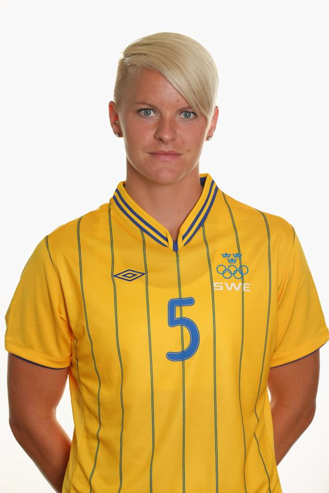 COVENTRY, ENGLAND - JULY 21: Nilla Fischer of Sweden poses for a portrait on July 21, 2012 in Coventry, England.  (Photo by Robert Cianflone/Getty Images)