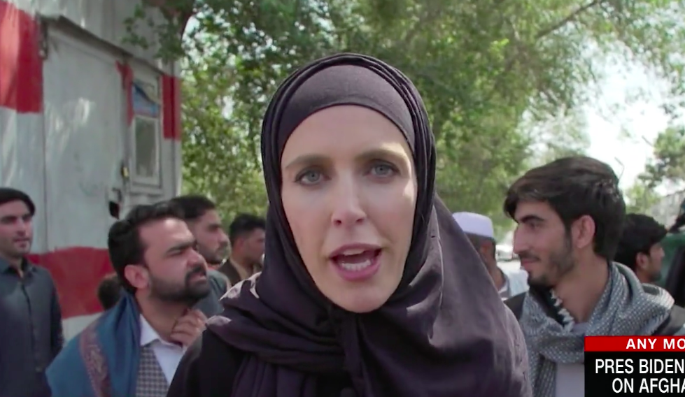 CNN reporter Clarissa Ward on the streets of Kabul after the Taliban took control of Afghanistan. (CNN)