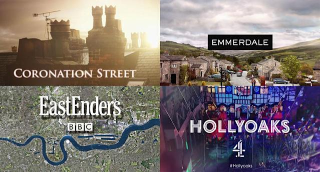 The big four UK soaps. (BBC/C4/ITV)