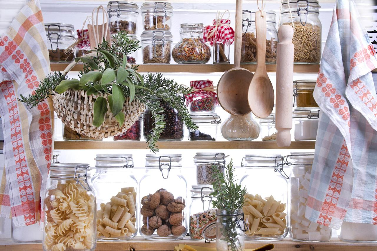 """<p>Beginning to <a rel=""""nofollow"""" href=""""https://www.countryliving.com/home-design/decorating-ideas/g3988/kitchen-trends/"""">clean out your kitchen</a> can be daunting. There are so many items to group together, it seems like it will never be orderly. Let these <a rel=""""nofollow"""" href=""""https://www.countryliving.com/home-maintenance/organization/g19598768/kitchen-cabinet-organization/"""">pantry organization ideas</a> inspire you to start-and keep-your goods perfectly arranged. <br></p>"""