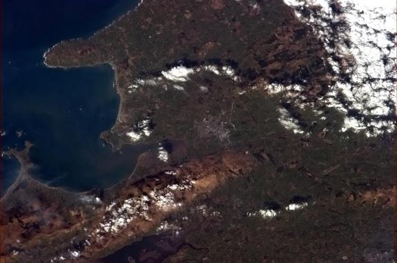 Canadian astronaut snapped this photo of Tralee, Ireland, from space on March 17, 2013, to celebrate St. Patrick's Day on the International Space Station.