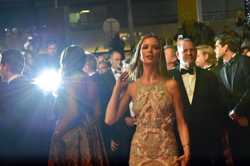 Weinstein and his wife, actress Georgina Chapman, arrive at the 69th Cannes Film Festival in Cannes, southern France.