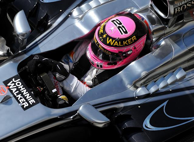 Britain's Jenson Button of McLaren Mercedes exits the pit lane during first practice session before the Formula One British Grand Prix at Silverstone, England, on Friday, July 4, 2014. The British Formula One Grand Prix will be held on Sunday July 6, 2014. (AP Photo/Rui Vieira)