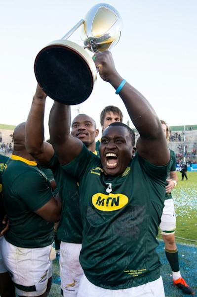 The Springboks have bought into Rassie Erasmus's strategy and philosophy evidenced by winning the Rugby Championship former South African scrum-half Francois Hougaard told AFP (AFP Photo/Juan GASPARINI)