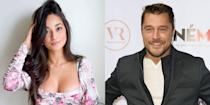 """<p><em>The Bachelor </em>contestant Victoria Fuller <a href=""""https://www.eonline.com/news/1141185/why-the-bachelor-s-victoria-fuller-and-chris-soules-are-sparking-romance-rumors"""" rel=""""nofollow noopener"""" target=""""_blank"""" data-ylk=""""slk:sparked dating rumors with Chris Soules"""" class=""""link rapid-noclick-resp"""">sparked dating rumors with Chris Soules</a> when she was spotted in the former <em>Bachelor</em>'s hometown. The pair started talking in March when fellow Iowa native Kelsey Weir encouraged the two to text. </p><p>By early April, Victoria was on his farm. The couple has been quarantining together ever since and have been going strong for nearly five months. """"We're really happy,"""" <a href=""""https://people.com/tv/bachelor-victoria-fuller-so-happy-dating-chris-soules/"""" rel=""""nofollow noopener"""" target=""""_blank"""" data-ylk=""""slk:she told People"""" class=""""link rapid-noclick-resp"""">she told <em>People</em></a>. """"The last few months have been really special for us. We're enjoying each other!""""</p>"""