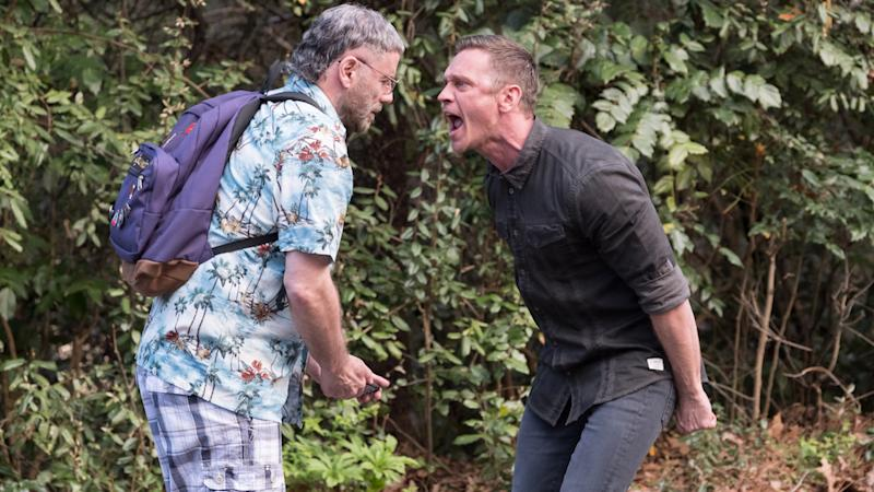 Travolta and Devon Sawa in The Fanatic (Credit: Quiver Distribution)