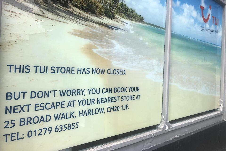 Closing down: a Tui store in Bishop's Stortford: Simon Calder