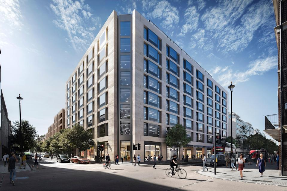 Derwent London is working on a new office project at 19-35 Baker Street (Derwent London)