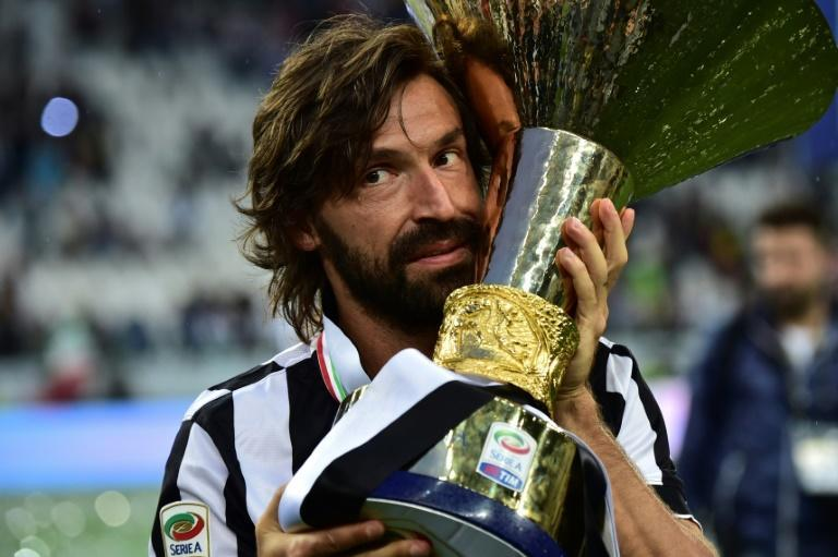 Italian midfielder Andrea Pirlo won four Serie A titles with Juventus.