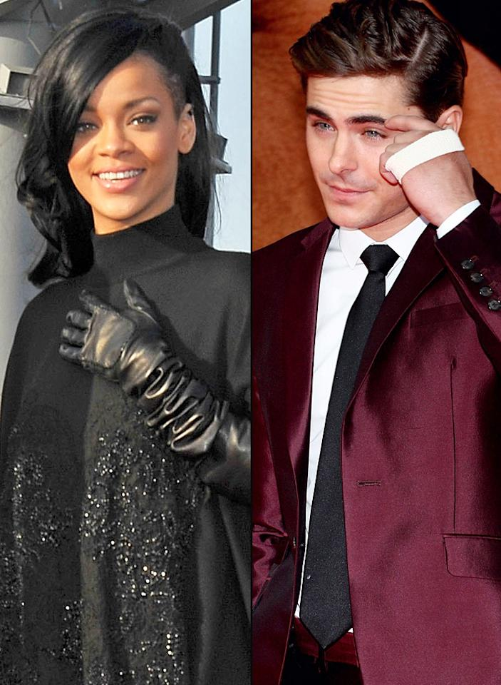 "Zac Efron is ""working overtime to woo"" Rihanna, reveals Star, which notes the ""incredibly persistent"" actor recently sent her four dozen roses. The mag explains Efron's ""wanted to hook up with Rihanna for years."" For how Rihanna's surprisingly reacted to all the attention, and when they're slated to go out publicly, see what an Efron insider leaks to <a target=""_blank"" href=""http://www.gossipcop.com/zac-efron-rihanna-dating-hookup/"">Gossip Cop</a>."