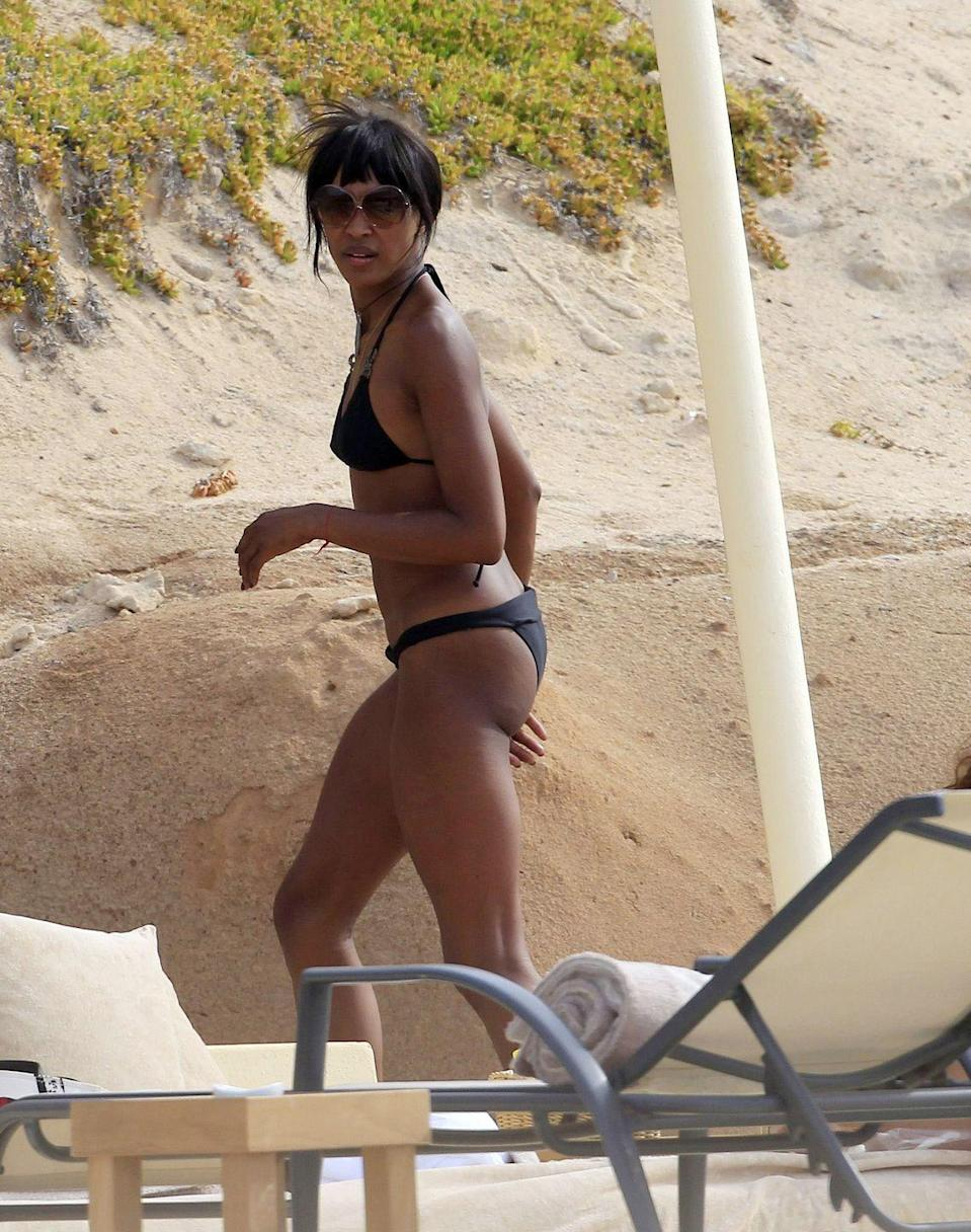 <p>Naomi Campbell on a beach vacation in Ibiza, Spain.</p><p>Other celebrity visitors this year: Rafael Nadal, Paris Hilton, Damian Lewis, Naomi Campbell, Leonardo Dicaprio, Adrien Brody.</p>