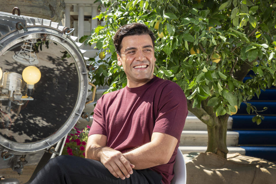 FILE - In this Sep, 2, 2021 file photo Oscar Isaac poses for portraits for the film 'The Card Counter' during the 78th edition of the Venice Film Festival in Venice, Italy. (Photo by Joel C Ryan/Invision/AP, File)