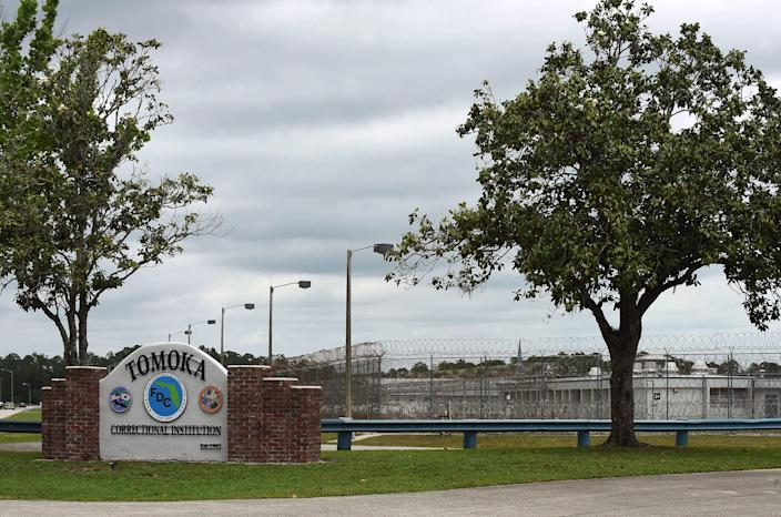 Tomoka Correctional Institution is seen in Daytona Beach, Florida on April 25, 2020, as corrections officials report that 84 inmates and 10 staff at the prison have tested positive for COVID-19. (Paul Hennessy/NurPhoto via Getty Images)
