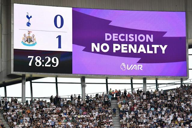 Not this time: Spurs were denied a late penalty by VAR (AFP Photo/Daniel LEAL-OLIVAS)
