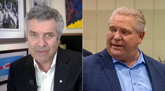 Comedian Rick Mercer uses a cringe-worthy image of Premier Doug Ford in a new video telling people to stay home.