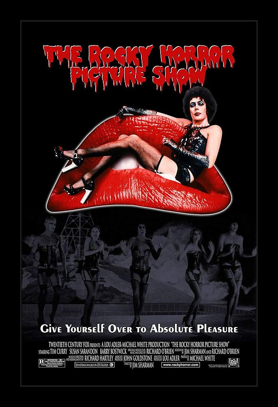 """<p>There are some dedicated RHPS fans out there who may be ready to argue that this should've been at the top of the list. Over 30 years since it's initial release, audiences still pack theaters for midnight screenings across the country. Folks can't get enough of Tim Curry as Dr. Frank-N-Furter putting Brad (Barry Bostwick) and Janet (Susan Sarandon) through a night of insanity when all they needed was a tow truck. It may be fun to watch from the comfort of your couch, but it's an experience to see it in a theater with people who can act out every scene.</p><p><a class=""""link rapid-noclick-resp"""" href=""""https://www.amazon.com/Rocky-Horror-Picture-Show/dp/B001HLZMUE/ref=sr_1_1?tag=syn-yahoo-20&ascsubtag=%5Bartid%7C10072.g.27734413%5Bsrc%7Cyahoo-us"""" rel=""""nofollow noopener"""" target=""""_blank"""" data-ylk=""""slk:WATCH NOW"""">WATCH NOW</a></p>"""
