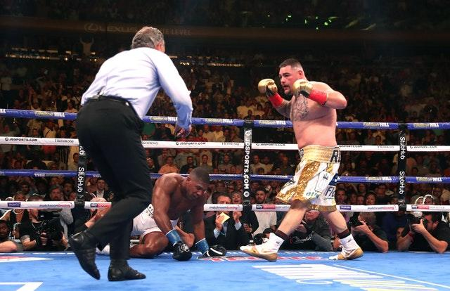 Anthony Joshua suffered a shock defeat to Andy Ruiz in New York (Nick Potts/PA).