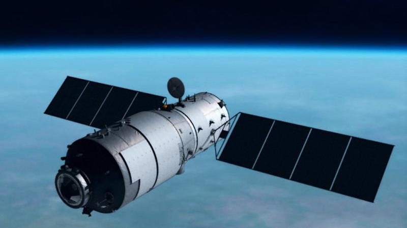 The Chinese Tiangong-1 space station before the fall.