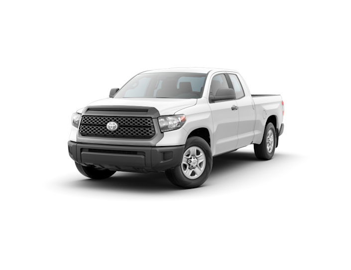 "<p><strong>Configuration: </strong>SR trim level, extended cab, 4x2, with Work Truck package</p><p>The current generation of the <a href=""https://www.caranddriver.com/toyota/tundra"" rel=""nofollow noopener"" target=""_blank"" data-ylk=""slk:Toyota Tundra"" class=""link rapid-noclick-resp"">Toyota Tundra</a> has been around for a long time, and will likely be replaced soon. But while we're still stuck with the old truck, the cheapest way to get it is the SR trim level in extended-cab form, which isn't all that cheap. A V-8 engine is standard, as opposed to the V-6s seen elsewhere in the full-size segment, and you can order a Work Truck package that drops the base price by a bit. It supplants the standard cloth upholstery with industrial-grade vinyl seats and removes the power function from the door locks.</p>"