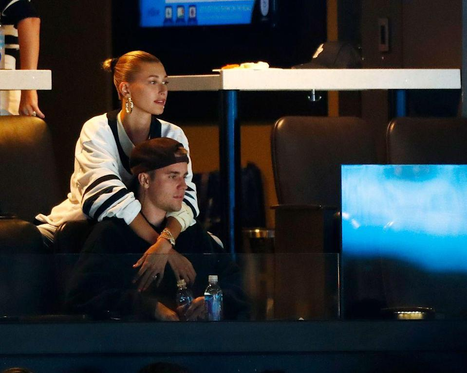 <p>The couple were pictured watching an ice hockey game the between Boston Bruins and the Toronto Maple Leafs in Boston.</p>