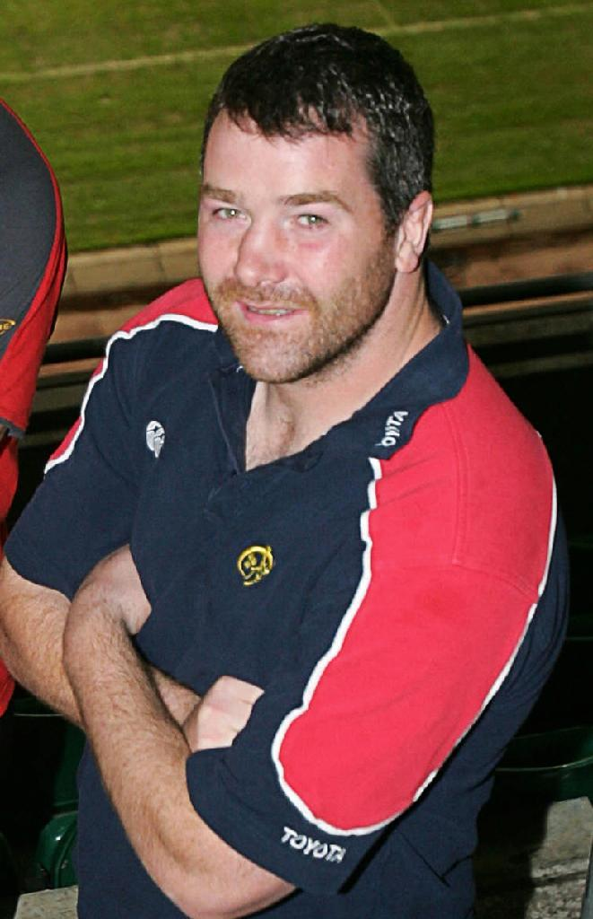 Anthony Foley, then Munster's captain, pictured in Carddiff, Wales, in 2006 (AFP Photo/Martyn Hayhow)
