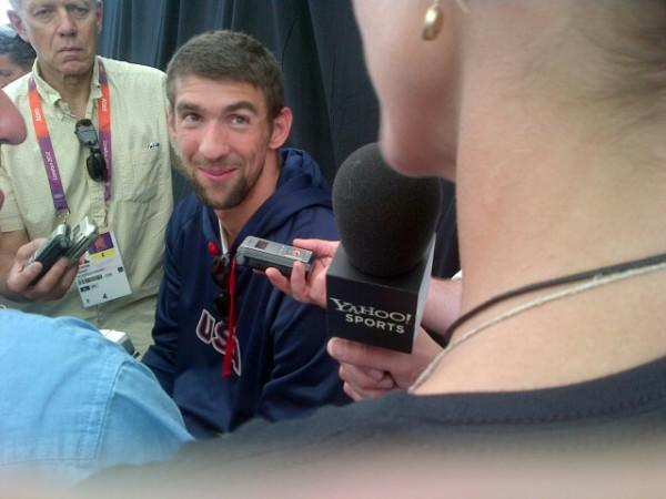What did @MichaelPhelps say about his dorm here in London?
