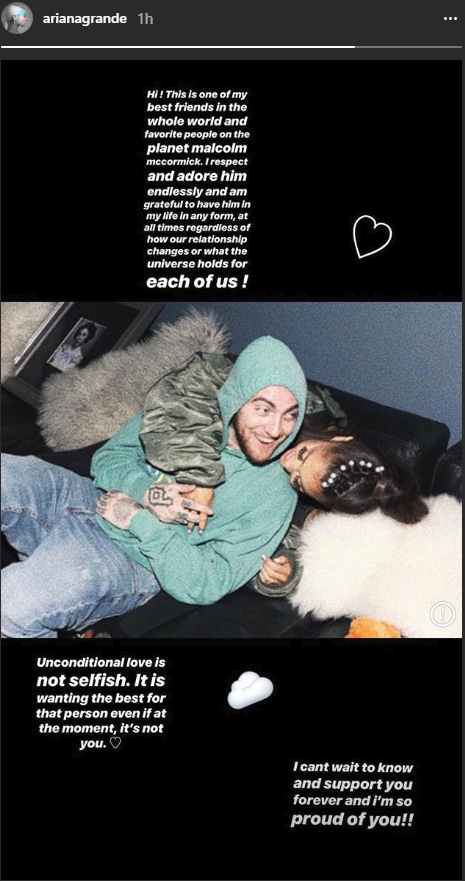 Ariana Grande and Mac Miller from Instagram.