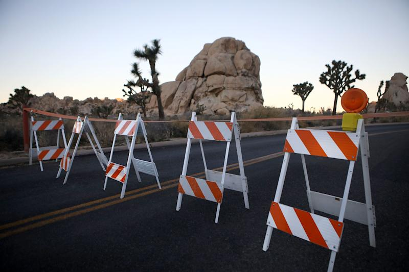 There have been just about eight rangers on hand to oversee Joshua Tree's sprawling 790,636 acres during the shutdown. (Photo: Mario Tama via Getty Images)
