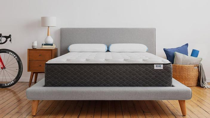 "<div class=""inline-image__caption""><p><a href=""http://shareasale.com/r.cfm?b=999&u=1701660&m=60398&afftrack=Article-Home-Deals&urllink=www.bearmattress.com%2F%3Fgclid%3DEAIaIQobChMIjIyUx9e04gIVRkSGCh3JXw68EAAYASAAEgL58_D_BwE"" rel=""nofollow noopener"" target=""_blank"" data-ylk=""slk:Save 20% sitewide and get two free pillows"" class=""link rapid-noclick-resp"">Save 20% sitewide and get two free pillows</a> at Bear Mattress</p></div>"