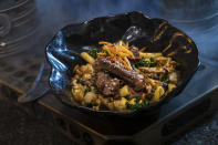 The Braised Shaak Roast, found at Docking Bay 7 Food and Cargo, features beef pot roast with cavatelli pasta, kale and mushrooms. (Photo: David Roark/Disney Parks)