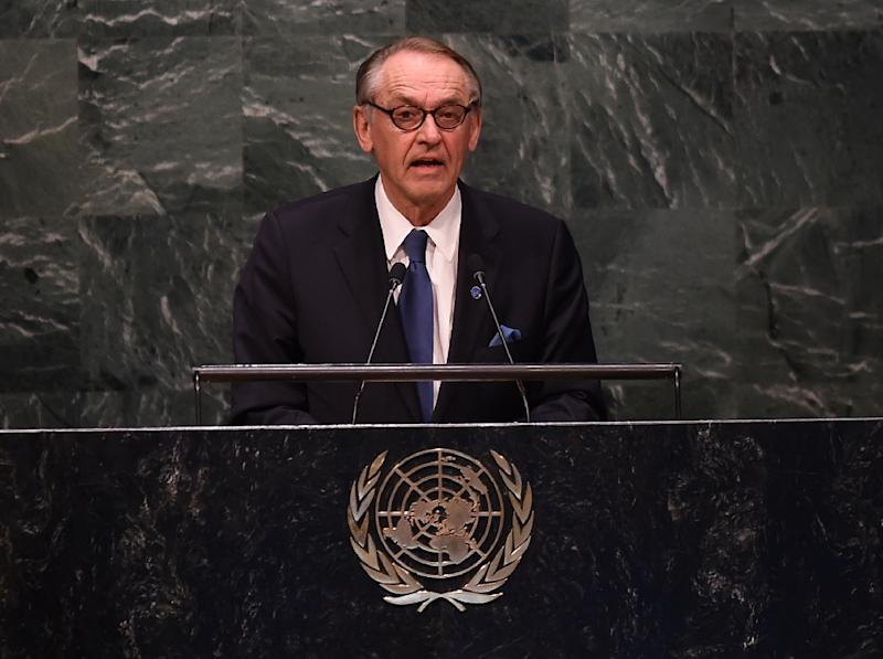 UN Deputy Secretary-General Jan Eliasson on April 27, 2015 in New York City (AFP Photo/Timothy A. Clary)