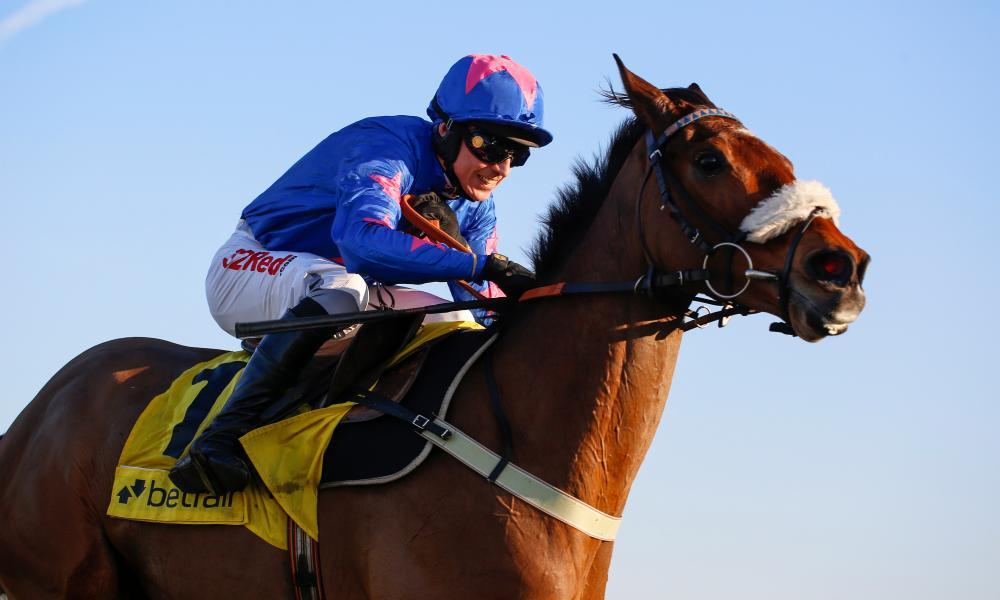 Cue Card ridden by Paddy Brennan on the way to victory in the Betfair Chase at Ascot earlier this year, one of five Group One wins for the pair over the last two years.