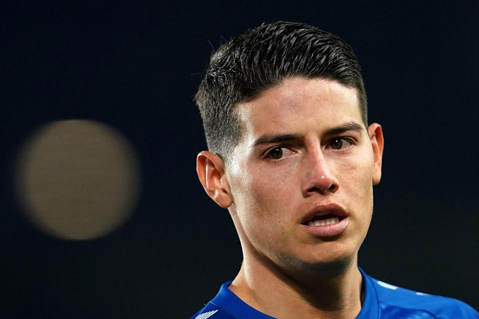 <p>James Rodriguez has struggled with calf injuries at Everton so far</p> (POOL/AFP via Getty Images)